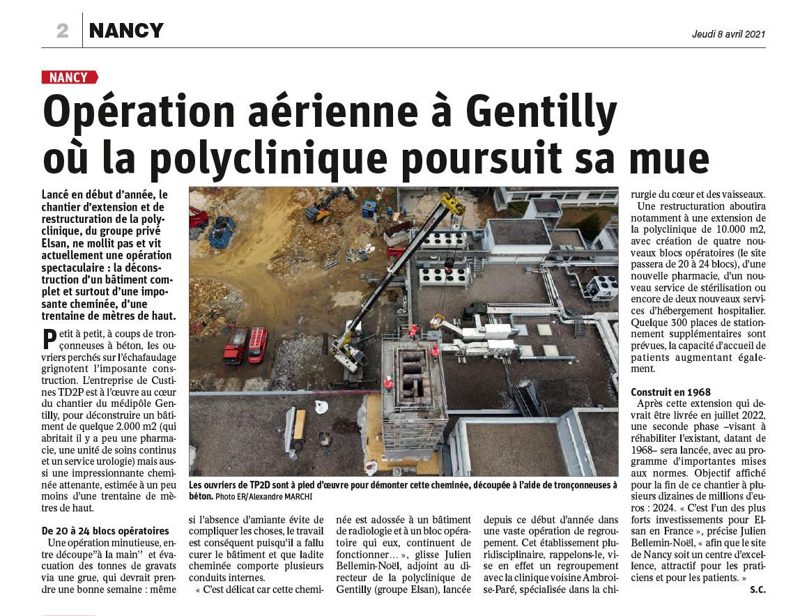 Urbavenir Ope-aerienne-Gentilly-pdf Opération aérienne à Gentilly où la polyclinique poursuit sa mue actualites Urbavenir TP
