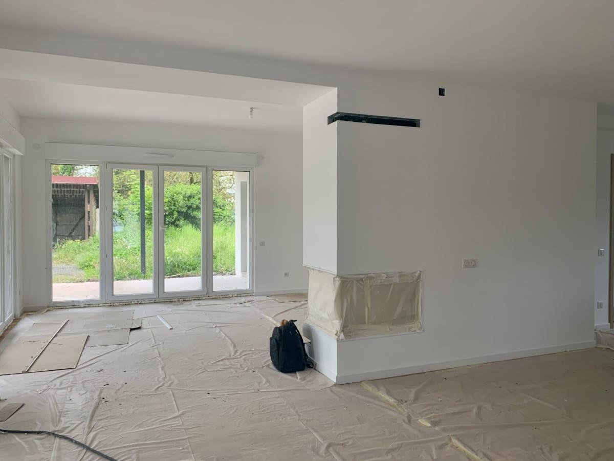 Urbavenir Cheminee-4 La maison aux 16 pans - Lunéville #2 actualites Blog chantiers Maison d'architecte Maison familiale Maison sur-mesure